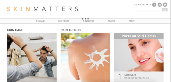 Skin Matters Home