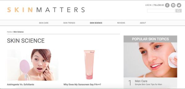 Skin Matters Skin Science