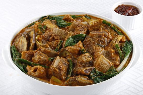 Beef Tadyang Kare-Kare, P550, serves 6-8 pax; P990, serves 10-12 pax.