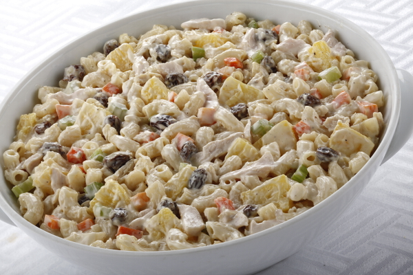 Macaroni Salad, P395, serves 6-8 pax; P795, serves 10-12 pax.