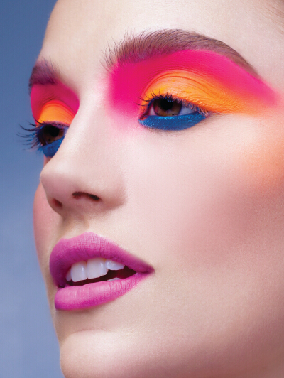 4. POP OF COLOR is a playful look using electric colors that will instantly brighten up your eyes.