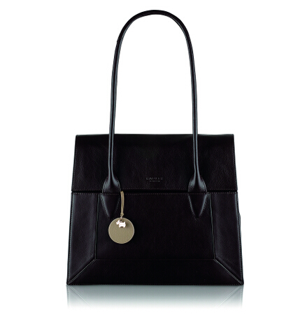 Border Large Flapover Tote in Brown