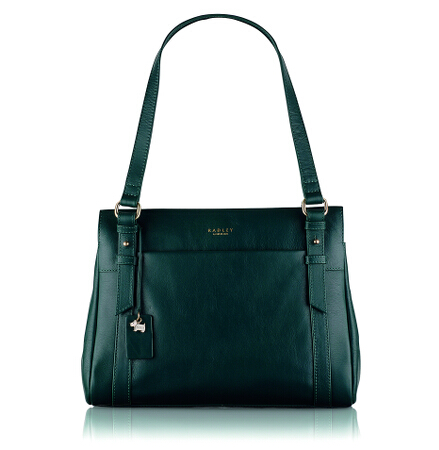 Chelsea Medium Ziptop Shoulder Bag in Kelp