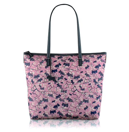 Cherry Blossom Dog Large Ziptop Tote