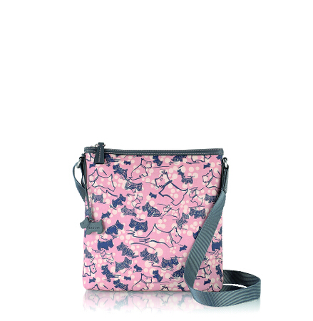 Cherry Blossom Dog Medium Ziptop Crossbody