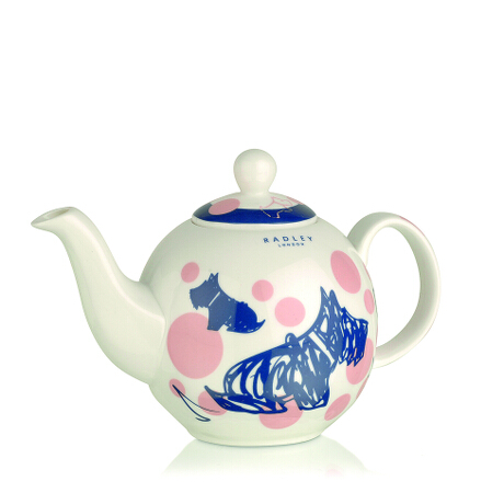 Cherry Blossom Dog Tea Pot