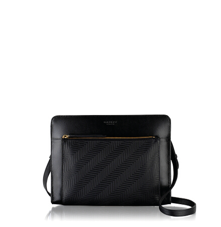 Clerkenwell Medium Ziptop Crossbody in Black
