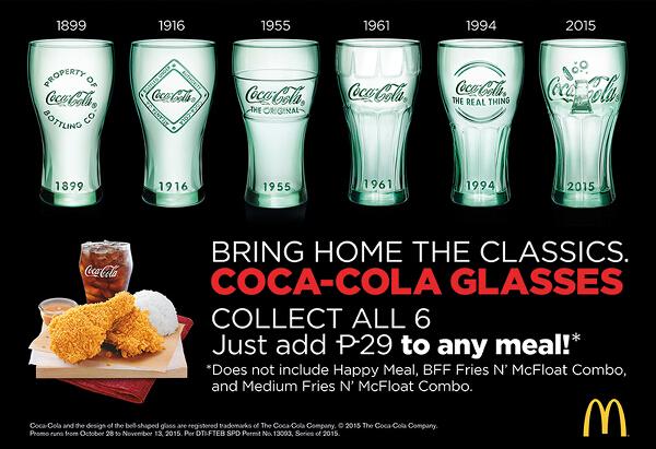Coca-Cola Glasses 2015 promo