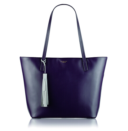 De Beauvoir Large Ziptop Tote in Eggplant