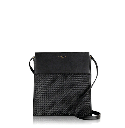 Golborne Road Large Ziptop Crossbody in Black