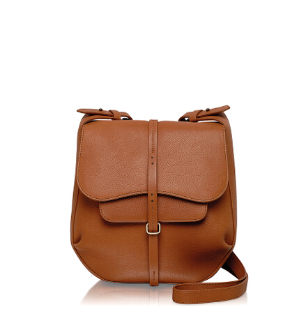 Grosvenor Medium Flapover Crossbody in Tan