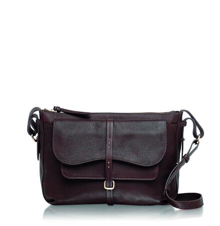 Grosvenor Medium Ziptop Crossbody in Brown