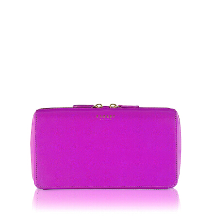 Keats Grove Medium Ziptop Clutch in Azalea