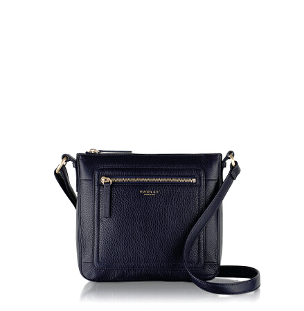 Maddox Street Small Ziptop Crossbody in Summer Fig
