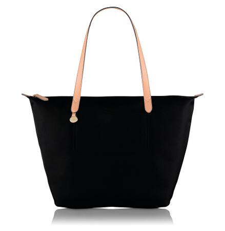 Pocket Essentials Large Ziptop Tote in Black