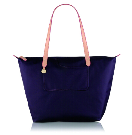 Pocket Essentials Large Ziptop Tote in Eggplant