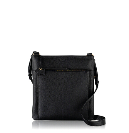 Richmond Large Ziptop Crossbody in Black