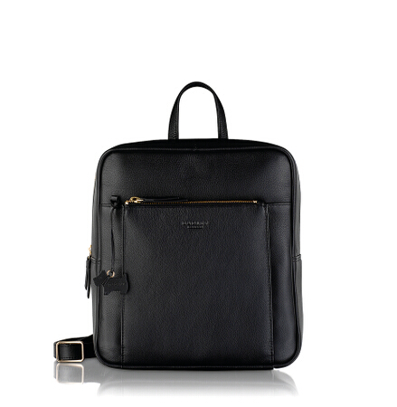 Richmond Small Ziptop Backpack in Black