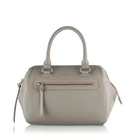 Whitechapel Medium Ziptop Grab Bag in Plaster