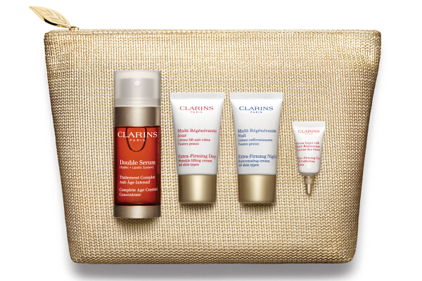 15. Clarins Double Serum and Extra Firming Programme Set