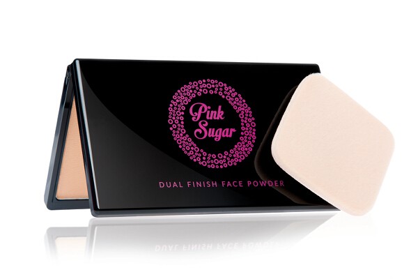 Pink Sugar Dual Finish Face Powder (P499). The two-way powder foundation has photochromatic pigments and long-lasting coverage. It's infused with ginseng and other antioxidants, and comes in five shades.