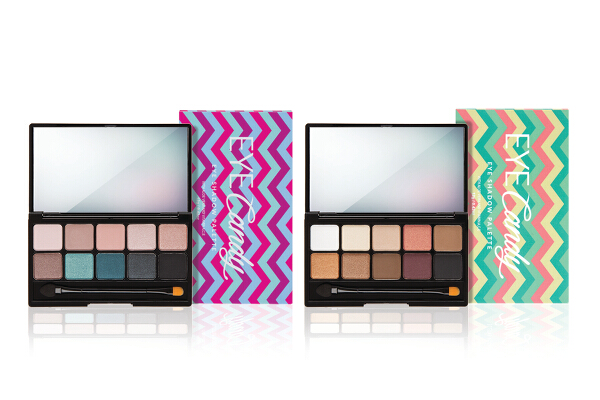 Pink Sugar Eye Candy Eye shadow Palette (P699). Day to Night eye shadow palettes with 10 colors in matte, frost, and metallic finishes. It's available in two color combinations.