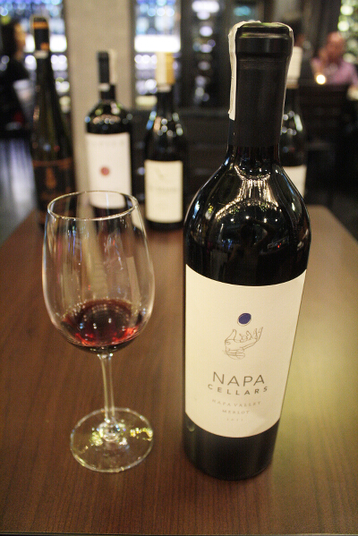Best paired with: Napa Cellars Merlot, 2011, from Napa Valley, California, one of my favorite places to visit ever (P85/sip, P245/half glass, P450/full glass, P1,950/bottle). Soft and elegant, it has hints of mocha and dark chocolate on the nose. It's smooth and aromatic, bold and flavorful, then crisp at the end. It really brings out the flavor of the sisig.