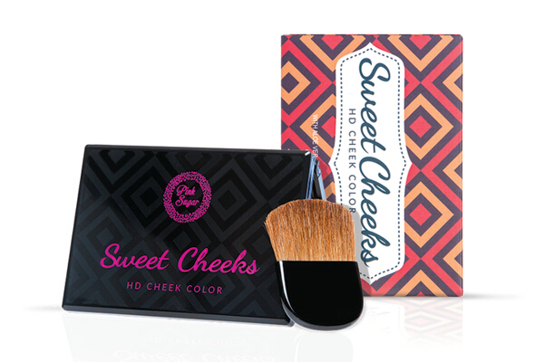 Pink Sugar Sweet Cheeks HD Cheek Color (P499). Delicate cheek colors with Vitamins A, C, E, and aloe vera. It comes in five shades for the Blush, one for the Bronzer, and two for the Highlighter.