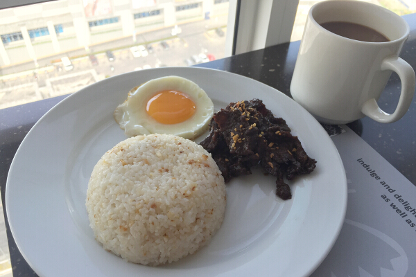 Tapsilog, Kopi, and the view!