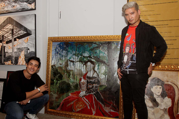 Tim Yap joined actor Xian Lim in front of the latter's own creation featured in the fair.