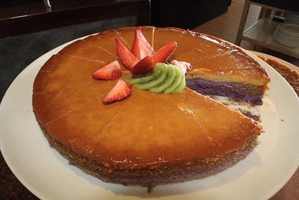 Ube Leche Flan cake