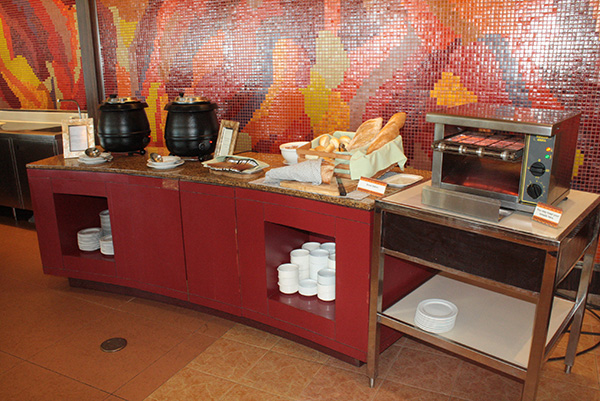 Bread and soup station