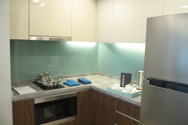 Fully-equipped kitchen, complete with ovens, ref, cooking and dining utensils