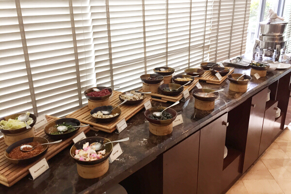 Soup and congee station