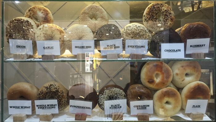 Bagel display