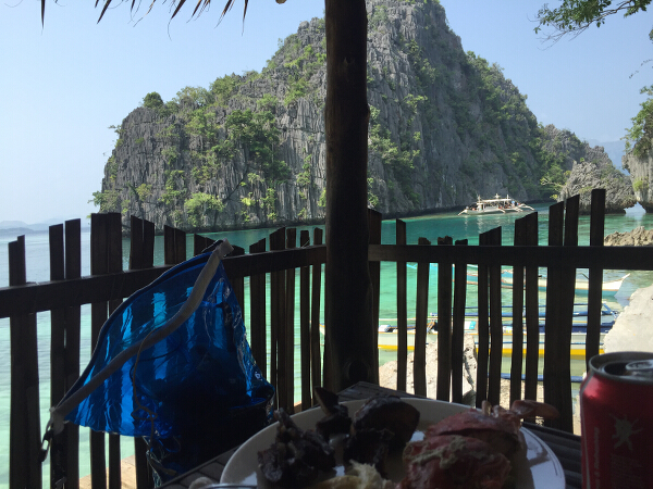 Kayangan Lake lunch view
