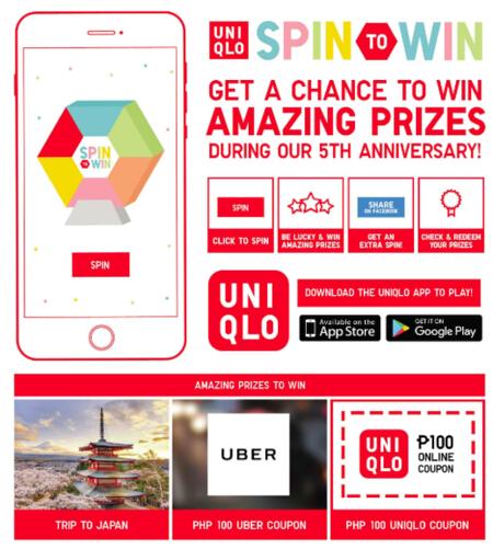 UNIQLO Spin to Win