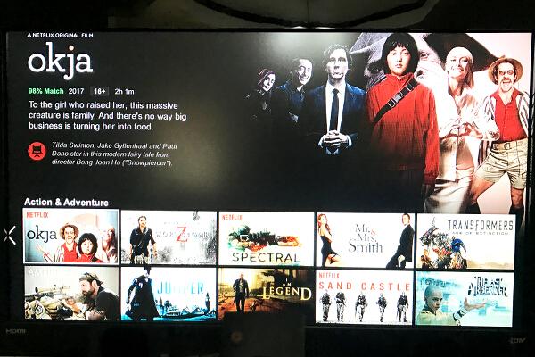 AndroidTV box screen