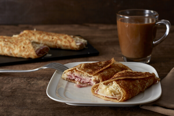 Ham and Cheese on Dutch Crepe