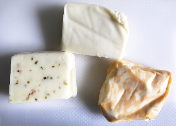 Unwrapped California Cheeses
