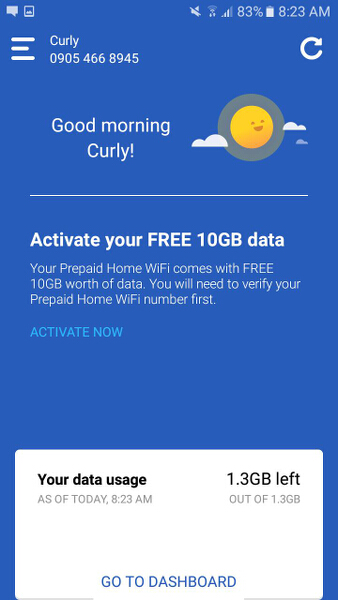 How to manage your Prepaid Home WIFI with the new Globe At