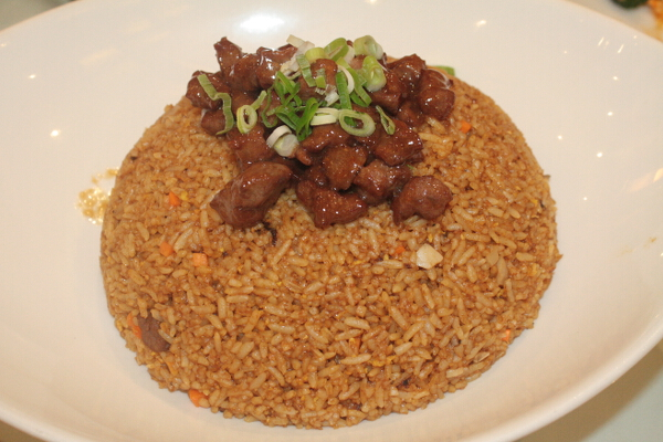 wagyu beef with olives fried rice
