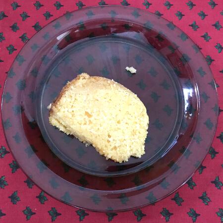 flour pot rum cake slice