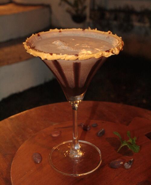 Peanut Butter Batirol Sake Martini