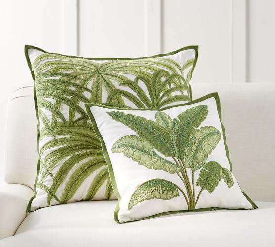 18. Pottery Barn Kai Banana Leaf Pillow P3,950, Kai Palm Leaf P2,950