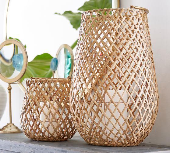 22. Pottery Barn, Kelly Woven Palm Lantern, P2950 (S), P4950 (L)