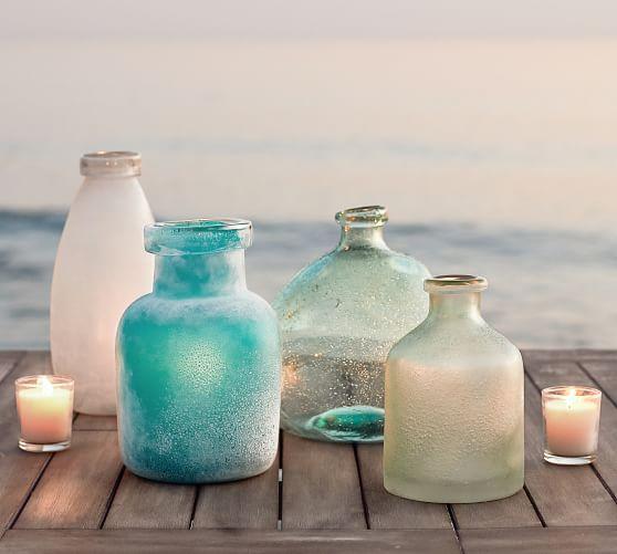 7. Pottery Barn, Sea Glass Vases, P1950 (ea)