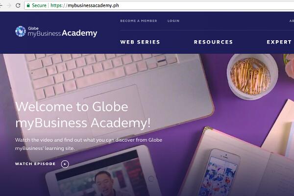 Globe myBusiness Academy main