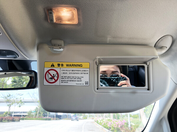 EcoSport vanity mirror and light