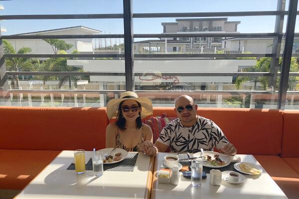Savoy Boracay breakfast Jessie Trixie